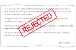 College rejection letters