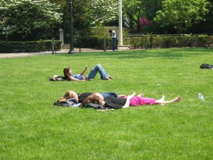 students-relaxing