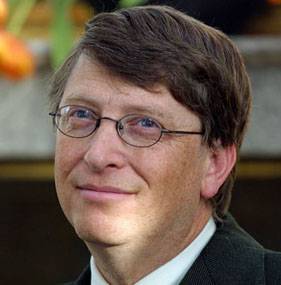 Bill Gates, Chairman of Microsoft, dropped out of Harvard