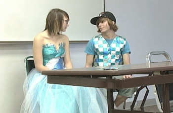 Gum wrapper prom dress: Image via OregonLive.com