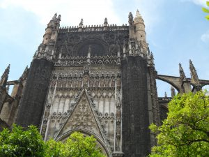 This is the back of La Catedral, when you are standing in the orange garden.