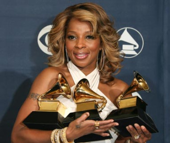 Mary J Blige With Grammys