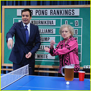 betty white beer pong