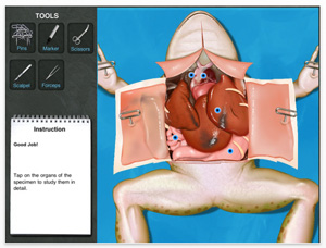frog dissection ipad
