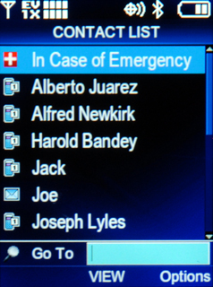 ICE on Contact List for Cell Phone