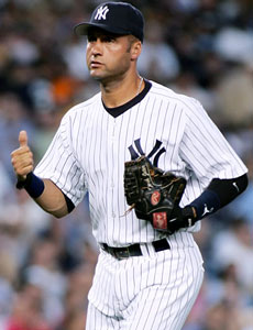 Baseball Player Derek Jeter in Uniform
