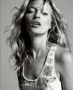 Model Kate Moss Black and White
