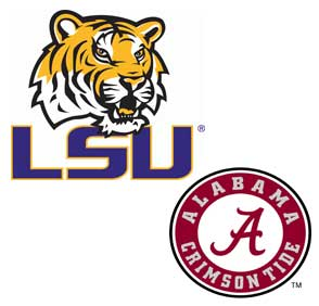 LSU and Alabama football logo
