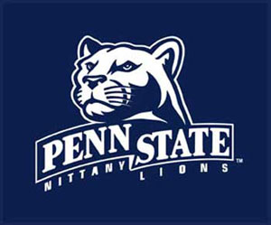 Penn State Logo with Nittany Lions