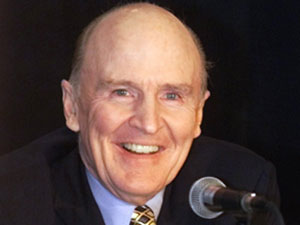 Jack Welch, CEO of G.E.