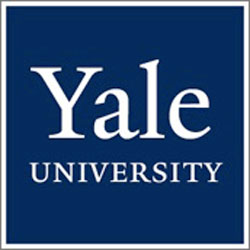 Blue and white yale logo