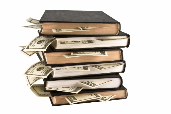 books and money